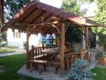 GAZEBO JATI UNIK, TEAK GARDEN FURNITURE